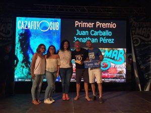 Abigail Martín y Yeray Delgado ganan el concurso de fotografía submarina 'Fotosub' en el Festival del Mar de La Palma